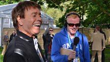 Sir Cliff Richard and Chris Evans