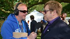 Chris Evans and Sir Elton John