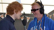 Ed Sheeran and Chris Evans