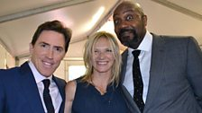 Rob Brydon, Jo Whiley and Lenny Henry
