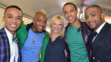 JLS and Jo Whiley
