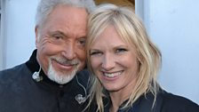Sir Tom Jones and Jo Whiley