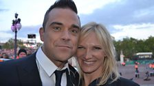 Robbie Williams and Jo Whiley