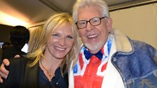 Jo Whiley and Rolf Harris