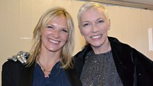 Jo Whiley and Annie Lennox