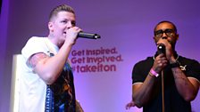 Professor Green in the Live Lounge