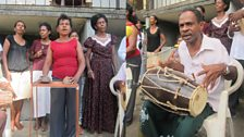 Peter Louis and Kaffir Manja musicians in Colombo