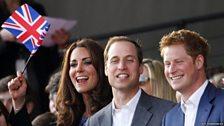 A royal crowd