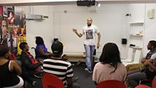 A comedy workshop at the Academy