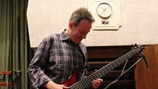 John Paul Jones with his bass guitar