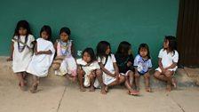 Arhuaco Indian school children