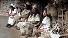 Arhuaco Indians in the Sierra Nevada north east Colombia