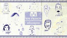 HMP Broadmarsh Prison tea towel 2012