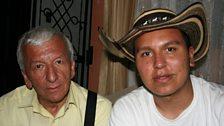 Jose Hernando (right) with his father Jose Arturo
