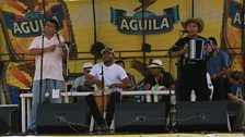 Jose Hernando with his musicians