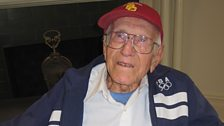 Louis Zamperini, 95, when interviewed in LA, ran 5000m in Berlin and came last, but his sprint caught the eye of Hitler
