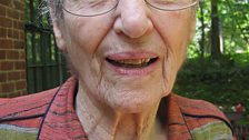 Gretel Bergmann, who was dropped from the German 1936 Olympics team because she was Jewish.