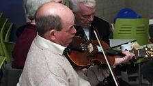 Musicians of Cultúrlann-doire at the County Derry Fleadh Launch.