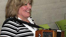 Musician from Cultúrlann-doire at the County Derry Fleadh Launch