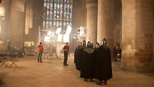 """We had the most wonderful help and support from the Dean & Chapter at Gloucester Cathedral for the filming."""