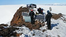Monitoring equipment on the summit of Katla volcano