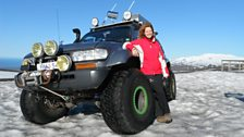 Kate Humble on location in Iceland