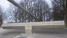 A symbolic bridge remembering the eleven Israeli athletes killed at the Munich Olympics