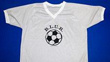 B.L.U.R. football t-shirt