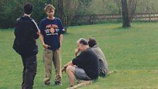 Damon Albarn with John Peel and Steve Lamacq