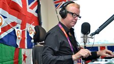Chris Evans in the Radio 2 Studio at the Olympic Park