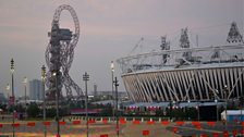 The Orbit and the Olympic Stadium