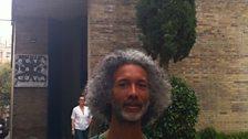 Kevin Le Gendre outside the Nova Jazz Cava, Terrassa