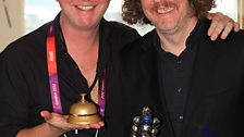 Chris with All The Bells mastermind Martin Creed