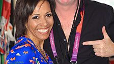 Dame Kelly Holmes with Chris Evans