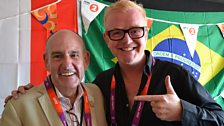 Chris meets the Olympic Mayor