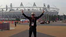 Chris Evans at the London 2012 Olympic Stadium