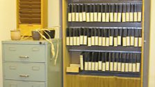 Stasi files at the HQ in Leipzig