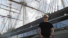 Simon outside the Cutty Sark