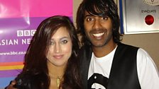 Nihal with a guest