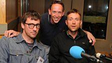 Graham Coxon, Steve Lamacq and Damon Albarn