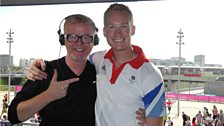 Chris Evans meets Greg Rutherford