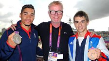 Chris, Louis Smith and Max Whitlock