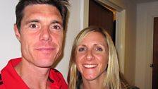 Marathon runner Liz Yelling with her coach, husband Martin