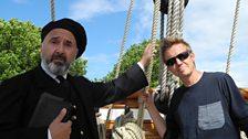 Simon Mayo with Captain Woodgett