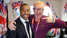 Colin Jackson with Chris