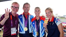 Chris with the Gold-winning dressage team