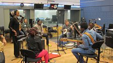 Oumou Sangaré and Bela Fleck in session