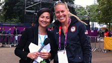 Rebecca Pike with US Olympic gold medallist, Esther Lofgren