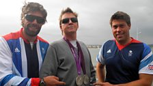 Team GB Olympic silver medallist Iain Percy and Andrew Simpson