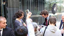 Matt Smith signing autographs